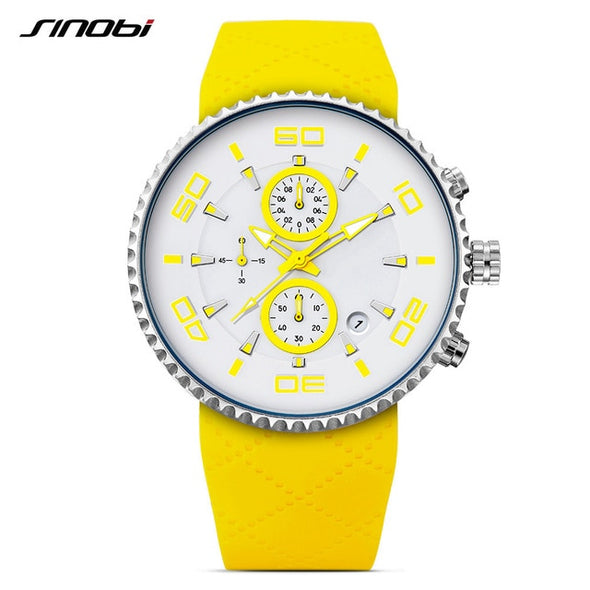 SINOBI men and women watch top brand luxury sports watch men's watch luminous waterproof men's watch clock hombre relogio
