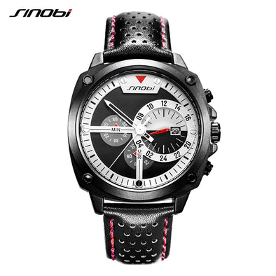 Relogio Masculino New Men Sport Watch SINOBI Brand Luxury Waterproof Chronograph Men's Watch Fashion Creative Watch Men Clock
