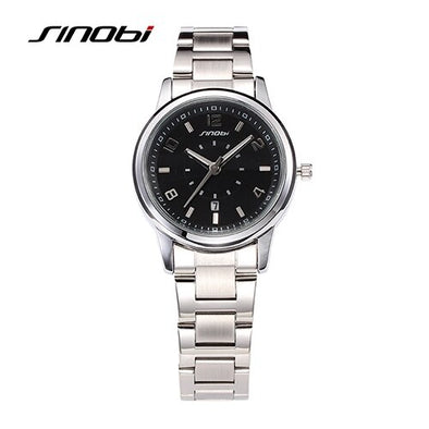 SINOBI Women Quartz Watch Stainless Steel Rose Gold Ladies Dress Bracelet Wristwatch Fashion Female Clock relogio feminino Gift