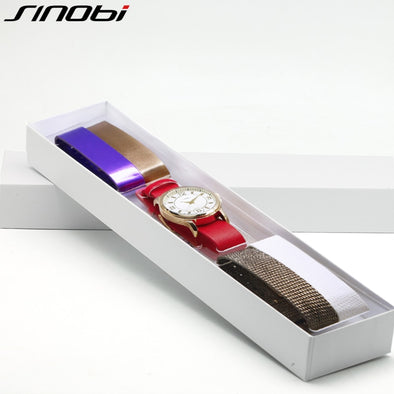 SINOBI Multicolor Women Leather Watches Set Luxury Quartz Watch Ladies Wrist Watch Female Clock 2019 Relogio Feminino #5169