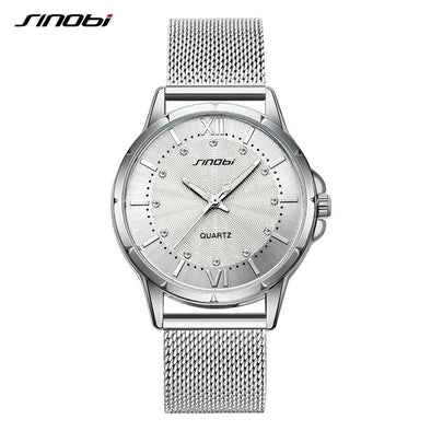 2019 Female Clock SINOBI Fashion Luxury Brand Women Quartz Watch Classic Gold/Silver Diamond Ladies Wrist Watch For Montre Femme