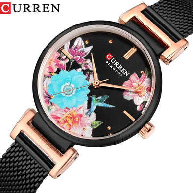 2019 Top Luxury Brand CURREN Women Watches Lady Fashion Ultra-thin Quartz Watch Ladies Stainless Steel Casual Clock Montre Femme