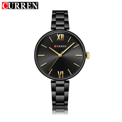 CURREN Women Watches Montre Femme Fashion Ladies Stainless Steel Bracelet Big Dial Quartz Wristwatches Relogio Feminino 9017