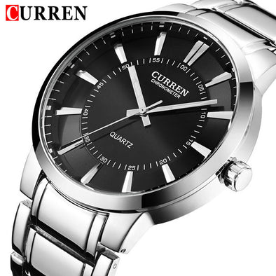 2017 CURREN Top Brand Men's Quartz Watches Men Full Steel Watch Man Casual Sport Clock Male Fashion Wristwatch Relogio Masculino