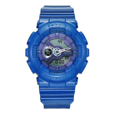 Casio Brand High quality sports Women watch baby-g series outdoor sports waterproof ladies watch blue rubber band BA-110BC-2A