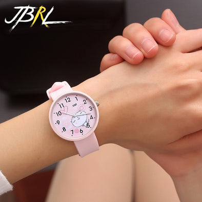 2018 Hot Sale Fashion Cartoon Cute Color Quartz Watches Boys Girl Kids Child Wrist Watch Child Clock Children Gifts girlish