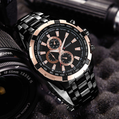 CURREN Mens Watches Top Brand Luxury 2019 Rose Gold Watch Military Sports Wrist Watch Waterproof Relogio Masculino Dropshipping