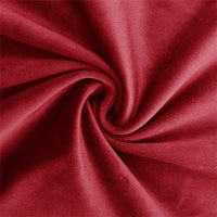 "Lewondr Velvet Soft Throw Pillow Cover, 2 Pack Modern Solid Color Square Decorative Throw Pillow Case Cushion Covers for Car Sofa Bed Couch Home Christmas Decor, 18""x18""(45x45cm), Burgundy"