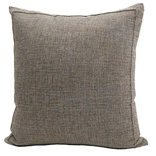 Jepeak Burlap Linen Throw Pillow Cover Cushion Case, Farmhouse Modern Decorative Solid Square Thickened Pillow Case for Sofa Couch (20 x 20 inches, Orange)
