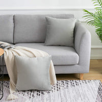 WLNUI Soft Velvet Gray Throw Pillow Covers Set of 2 Decorative Pillow Case Square Cushion Cover for Sofa Couch Home Farmhouse Decor 18x18 Inch 45x45 cm