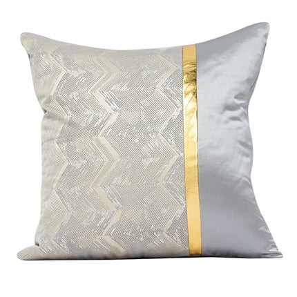 ROMANZO Modern Luxury Gold Color Sofa Cushion Cover Sample Room Hotel Decoration Pillow Cover
