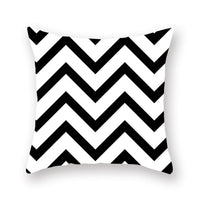 Black and White Pillow Decorative Geometric Cushion Covers Pillowcase for Sofa Polyester 45*45 Throw Pillow Covers 10040