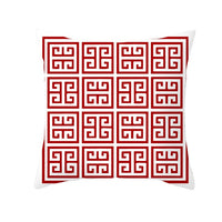 Red Cushon Covers Decorative Pillows Pillow Cover 45x45 Geometric Lip Pillowcase Throw Pillow for Couch Sofa Pillowcover 10069