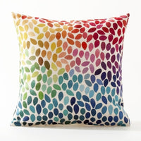 Rural Flower Pillow Cover Geometric Floral Cushion Cover Home Decorative Pillows Linen Pillow Case Office Sofa Cushion