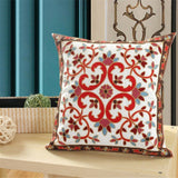 Wheel Circle Pattern Embroidery Cotton Linen Cushion Cover Geometric Pillow Cover For Sofa Bed Pillow Case Home Decor Almofada