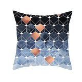 Colorful Geometric Cushion Cover Black Grey Pillowcase Decorative Pillows Cushions for Sofa Polyester Home Decoration 45*45
