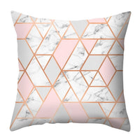 Urijk Pink Geometric Nordic Cushion Cover  Pineapple Throw Pillow Cover Polyester Cushion Case Sofa Bed Decorative Pillow