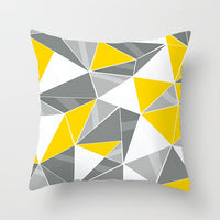 Fuwatacchi Yellow Cushion Cover Mandala Geometric Diamond Wave Pillow Cover for Chair Sofa Home Decorative Pillows 45x45cm