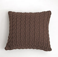 Brown Cushion cover Knit Home Decoration 45x45cm Square Pillow Cover Red Ivory Cream Coffee Grey Nordic Style Soft Warm Soft