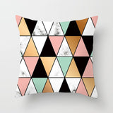 Fuwatacchi Regular Geometry Cushion Cover Printed Pillowca Pillow Case Black White Pink Home Decorative Pillows Covers