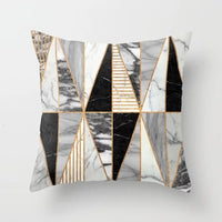 Gold Geometric Marble Sofa Decorative Cushion Cover Pillow Pillowcase Polyester 45*45 Throw Pillow Home Decor Pillowcover 40507