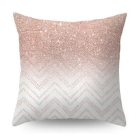 45x45cm Lash Pillow Case Rose Gold Geometric Pineapple Glitter Polyester Sofa Decorative Cushion Cover Pillowcase Home Decor