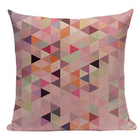 Nordic Style Cute Custom Geometry Pattern  Throw Pillow case Linen Cotton Cushion Cover Creative decoration for Sofa Car covers