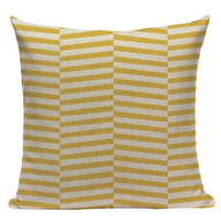 Gifts New Pillow Case Cotton Geometric Plaid Stripe Home Almofada/Cojines 45Cmx45Cm Square Fabric For Furniture printed Cojines