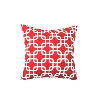 Top Finel Geometric Decorative Throw Pillow Cases Cushion Covers For Sofa Seat Office Chair Microfiber Decorative 45x45 cm Red