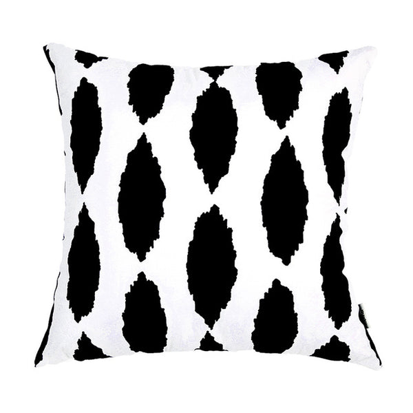 Topfinel Geometric Decorative Black Throw Pillow Cover Cases Cushion Covers For Sofa Seat Chair Microfiber Decorative 45x45 cm