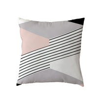 Stylish Cushion Cover 45x45cm Cross Pink Geometric Stripe Love Diamond Home Bedroom Sofa Decor Polyester Peach Skin Pillow Cases