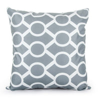 Topfinel Geometric Cushion Cover Cheap Grey Pillow Covers for Puff Sofa Seat Chair Microfiber Decor Throw Pillow Covers Cases