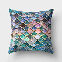 1Pcs Mermaid Fish Scale Pattern Polyester Throw Pillow Cushion Cover Car Home Decoration Sofa Bed Decorative Pillowcase 40507