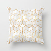 ZENGIA Bronzed Nordic Pillow Case Geometric Sofa Decorative Cushions Custom Pillow Cover Living Room Cushion Throw Pillows