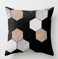 ZENGIA Bronzing Cushion Cover Throw Pillow Geometric Printed Polyester Home Decorative Pillow Cover Pillowcase new year pillows