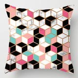 ZENGIA Pink/Green Marble Pillow Case Geometric Polyester Throw Pillows 45x45 Decorative Cushion Cover For Sofa/Chair/Living Room