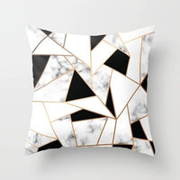 Gray Geometric Marble Sofa Decorative Cushion Cover Pillow Pillowcase Polyester 45*45 Throw Pillow Home Decor Pillowcover 40507