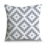 Microfine Cushion Cover Gray Throw Pillow Covers Vintage Decorative Cushions Home Decor Minimalist Nordic 45*45 Pillows For Sofa