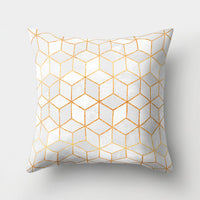 Gold Marble Geometric Sofa Decorative Cushion Cover Pillow Pillowcase Polyester 45*45 Throw Pillow Home Decor Pillowcover 40507
