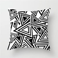 Fuwatacchi Geometric Style Cushion Cover Arrow Plain Dot Wave Printed Pillow Cover Black White Decorative Pillows For Sofa Car