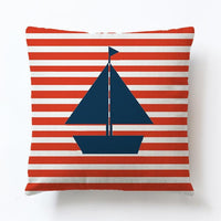 Voyager Boats Lighthouse Cotton Linen Cushion Covers Pillow Cover Decorative Sofa Seat Throw Linen Cotton Pillow Case