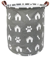 BOOHIT Storage Baskets,Canvas Fabric Laundry Hamper-Collapsible Storage Bin with Handles,Toy Organizer Bin for Kid's Room,Office,Nursery Hamper, Home Decor (Giraffe)