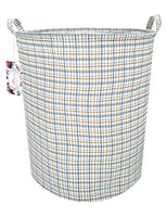 "TIBAOLOVER 19.7"" Large Sized Waterproof Foldable Canvas Laundry Hamper Bucket with Handles for Storage Bin,Kids Room,Home Organizer,Nursery Storage,Baby Hamper (Smiling Panda)"