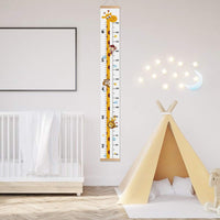 Baby Growth Height Chart, Outivity Handing Ruler Wall Decor for Kids, Canvas and Wood Removable Wall Ruler for Kids
