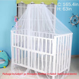 Sealive White Baby Nursery Mosquito Net Baby Toddler Bed Crib Canopy Netting Dome Hanging Mosquito Netting(Not Included Bed&Bed Crib Canopy&Netting Dome Hanging)