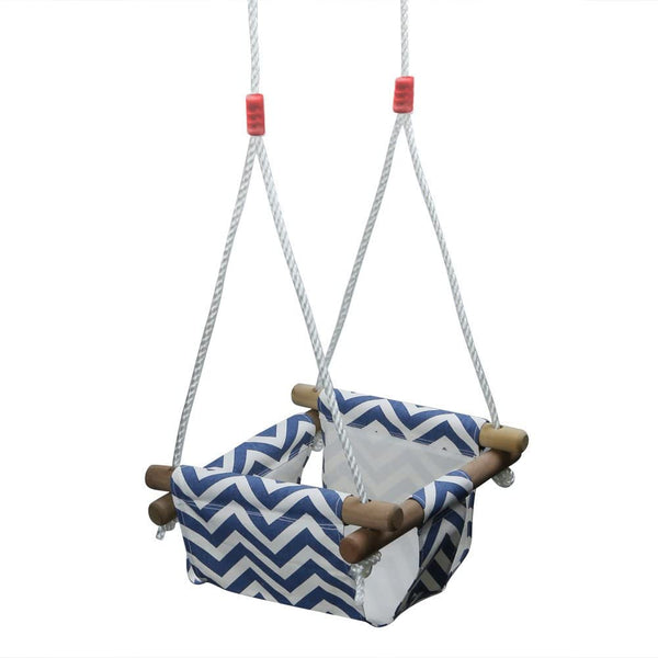 PELLOR Baby Toddler Swing Seat Hammock Chair Indoor Canvas Swing Hanging Seat (Blue/White)