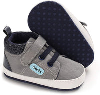 KaKaKiKi Baby Boys Girls Ankle High-Top Sneakers Shoes Soft Sole Toddler First Walker Newborn Crib Shoes