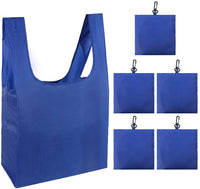 HOLYLUCK set of 3 Reusable Grocery Bags,Heavy Duty Foldable Shopping Tote Bag-sky blue