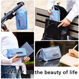 EASTHILL Large Capacity Colored Linen Storage Pouch Marker Pen Pencil Case Stationery Bag Holder For Middle High School Office College Student Boy Adult Teen Simple Gift Light Blue