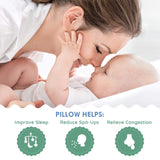 OCCObaby Universal Baby Crib Wedge Pillow with Removable Waterproof Cotton Cover